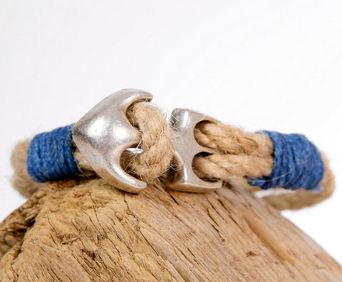 Natural Rope Bracelet with Anchor 2