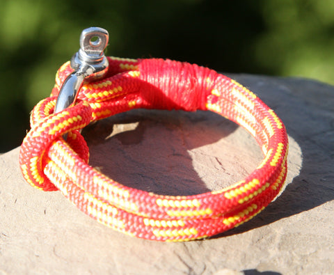 Red and Yellow Nautical Shackle Bracelet 2