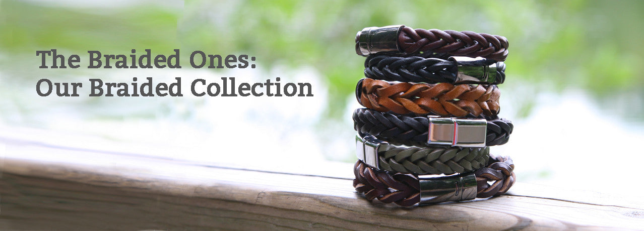 OZ Braided Leather Bracelets