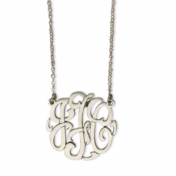 "Script 1.25"" monogram necklace"