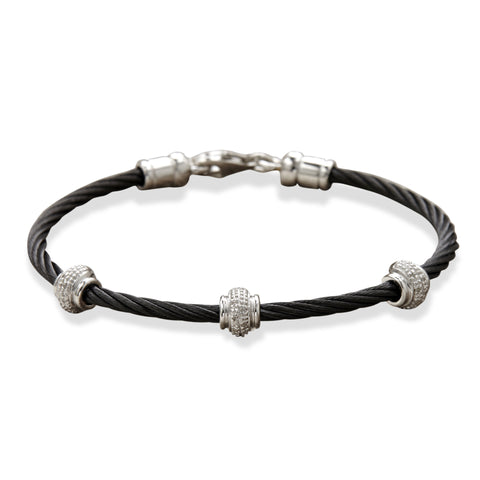 Diamond rondelle bangle