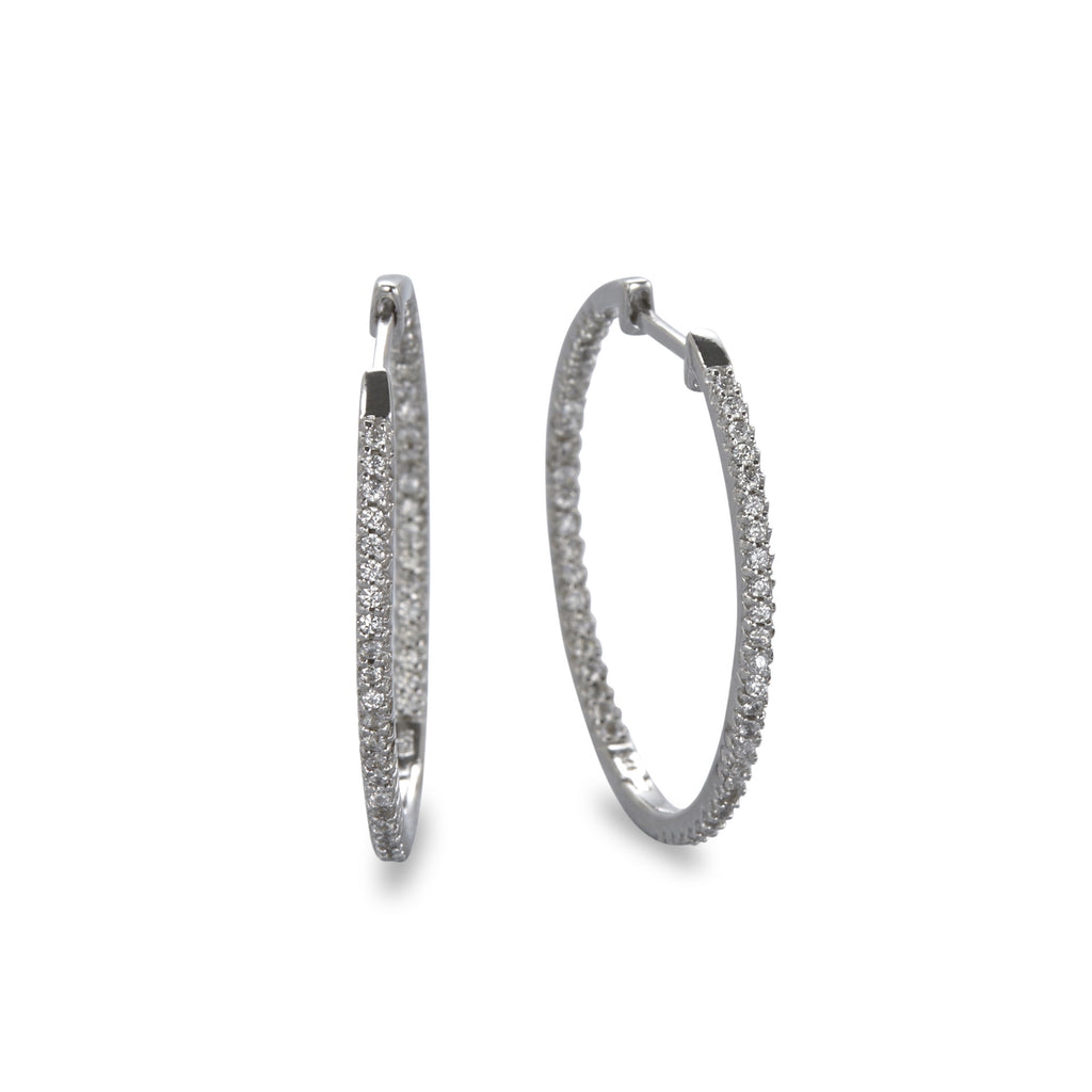 Extra large cz hoop earring