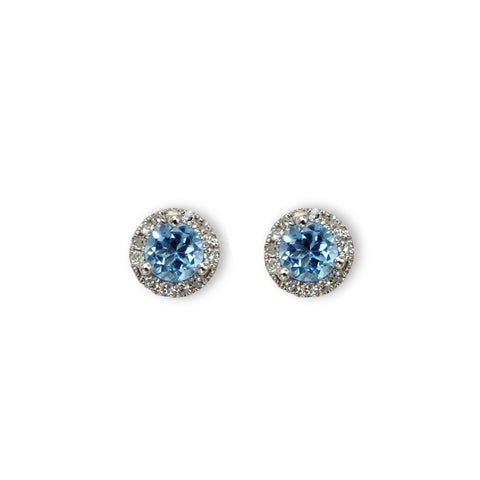 Small diamond martini stud
