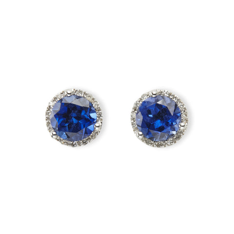Medium diamond martini stud
