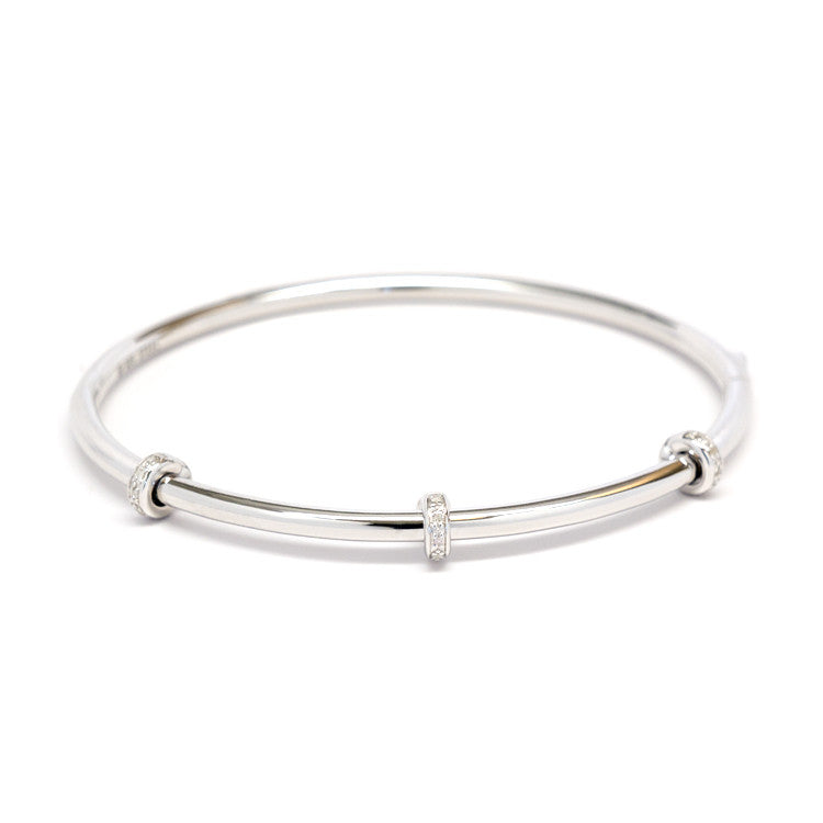 Diamond rondel bangle