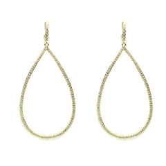 Extra large open teardrop earring