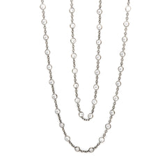 "36"" close cz by the yard necklace"