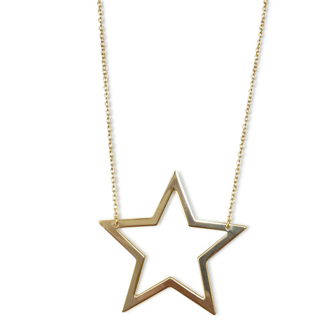 X-large open star necklace