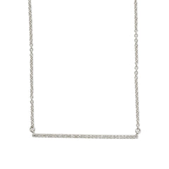 Thin bar diamond necklace