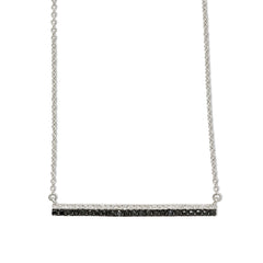 Diamond double bar necklace