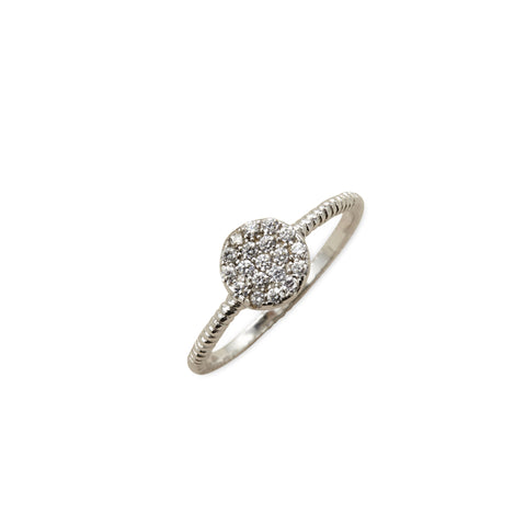 Pave cz disk ring