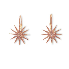 Rose gold starburst earring