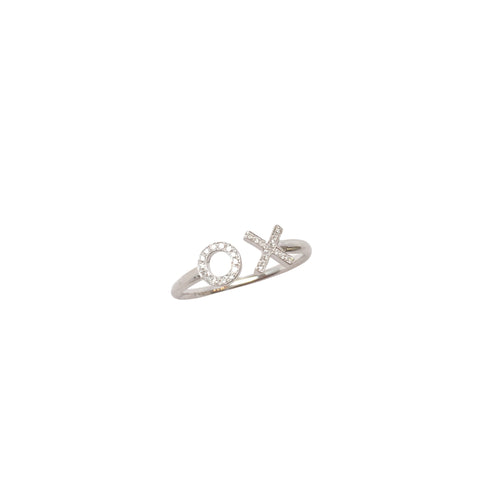 "Diamond ""X & O"" ring"
