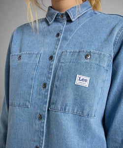 LEE - FEMININE WORKER SHIRT / LIGHT DENIM