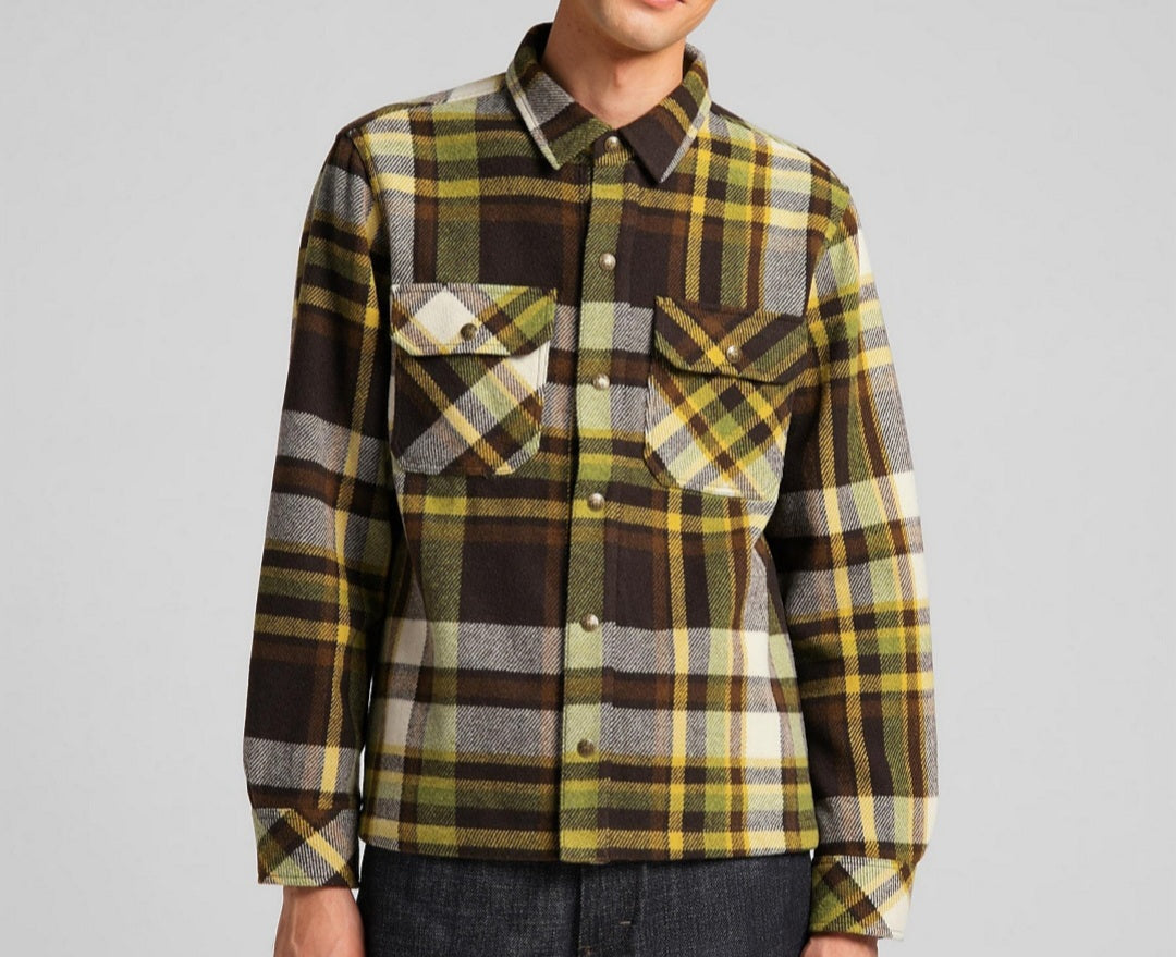 LEE101- CHECKED OVERSHIRT WOOL MIX