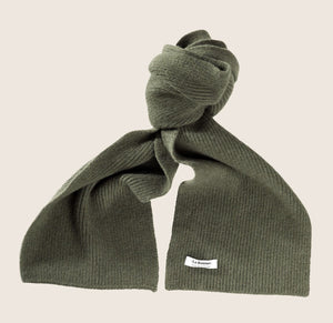 LE BONNET - WOOL SCARVES / ARMY GREEN