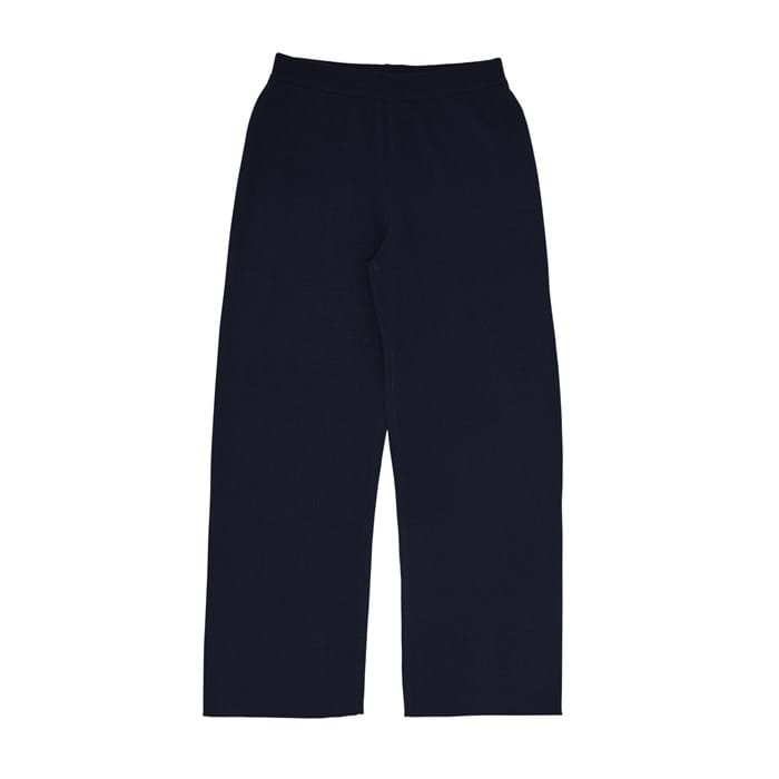 FUB - DOUBLE FACED WOOL PANTS / NAVY