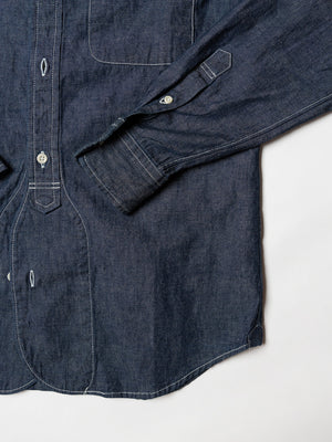 button-down shirt, 8oz cotton linen chambray