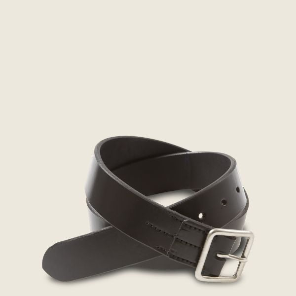 Red Wing - VEGETABLE-TANNED LEATHER BELT / Black (Mens)