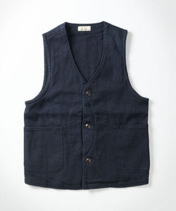 Japan Blue Jeans 11OZ INDIGO SASHIKO HUNTING VEST