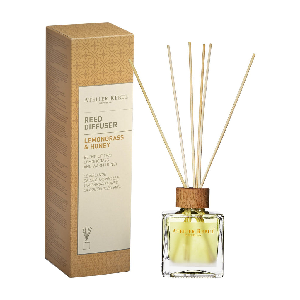 ATELIER REBUL-REED DIFFUSER/ LEMONGRASS & HONEY - 120ML
