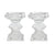 "SHORT CRYSTAL CANDLEHOLDER 5"" (Set of 2)"