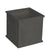 Square stonecast planter with traditional clipped corner panel in charcoal