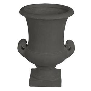 Luxury stonecast urn planter in charcoal