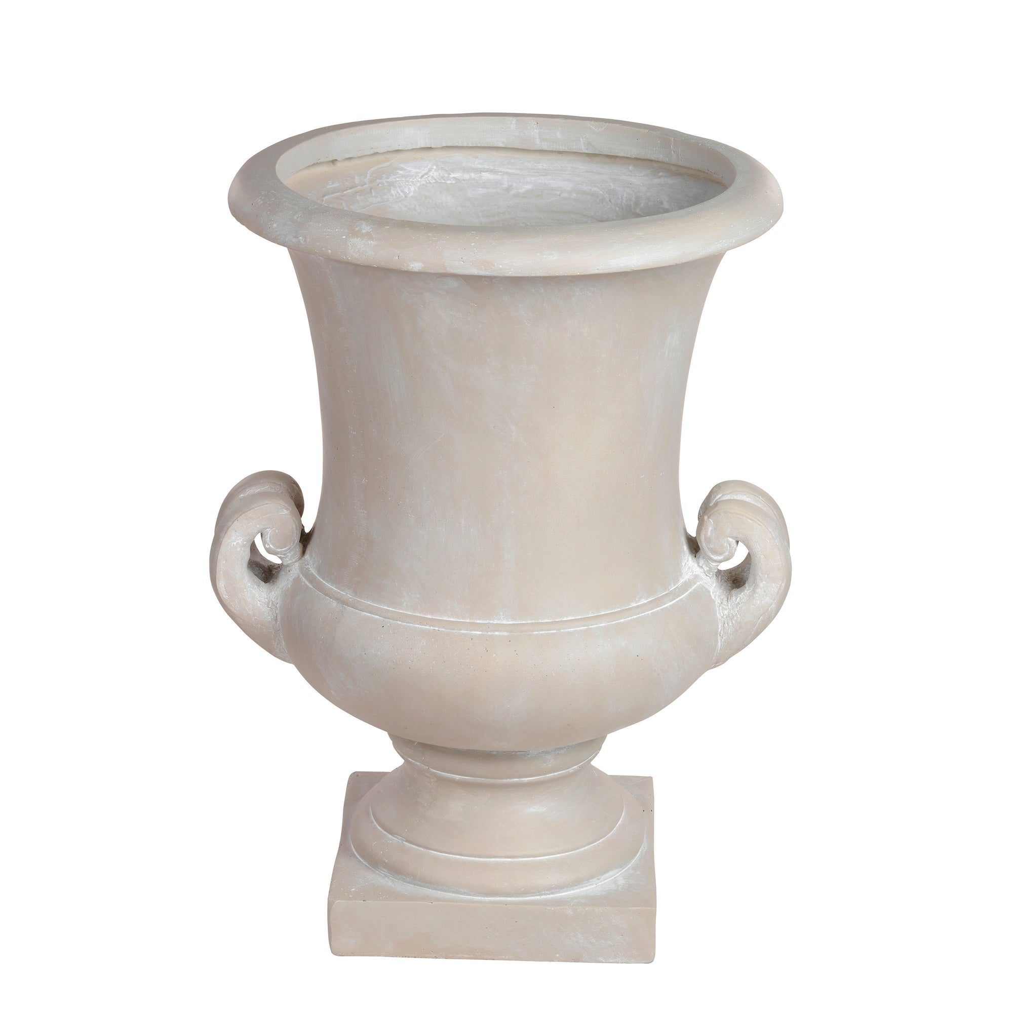 Luxury stonecast urn planter in light grey