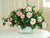 GARDEN CAMELLIA CENTERPIECE (DP556-PK) - Winward Home silk flower arrangements