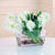 HYACINTH IN GLASS W/ ROCK (DP644-WHGR) - Winward Home faux floral arrangements
