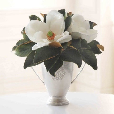 MAGNOLIA IN SILVER TABLETOP (DP704-WW) - Winward Home silk flower arrangements