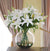 WHITE LILY CASABLANCA CENTERPIECE (DP745-WW) - Winward Home faux floral arrangements