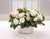 MIXED ROSE IN SILVER CONTAINER (DP753-CH) - Winward Home faux floral arrangements