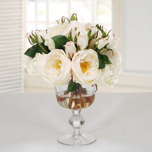 ROSE IN CANDY JAR (DP756-WH)