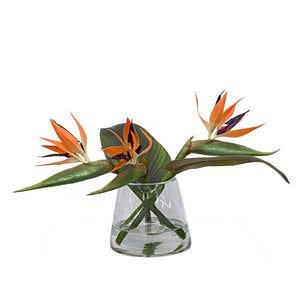BIRD OF PARADISE IN VASE SMALL 11""
