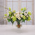 MIX TULIP & ROSE IN LOTUS VASE (WHD003-WHGR) - Winward Home faux floral arrangements