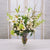 MIX CASABLANCA & ROSE IN VASE (WHD004-WHGR) - Winward Home silk flower arrangements