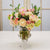 MIX FLORAL IN LOTUS VASE (WHD010-PKCH) - Winward Home faux floral arrangements