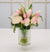 MIX FLORAL IN LANTERN VASE (WHD011-PKWH) - Winward Home silk flower arrangements