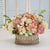 MIX FLORAL IN FRENCH WIRE PLANTER S (WHD016-PKCR) - Winward Home silk flower arrangements