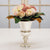 CREAM ROSE IN SILVER VASE (WHD019-PKMV) - Winward Home faux floral arrangements