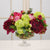 MIX FLORAL IN CRYSTAL GLASS BOWL (WHD021-OHGR) - Winward Home silk flower arrangements