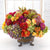 MIX FLORAL IN ROUND PLANTER (WHD026-MI) - Winward Home silk flower arrangements