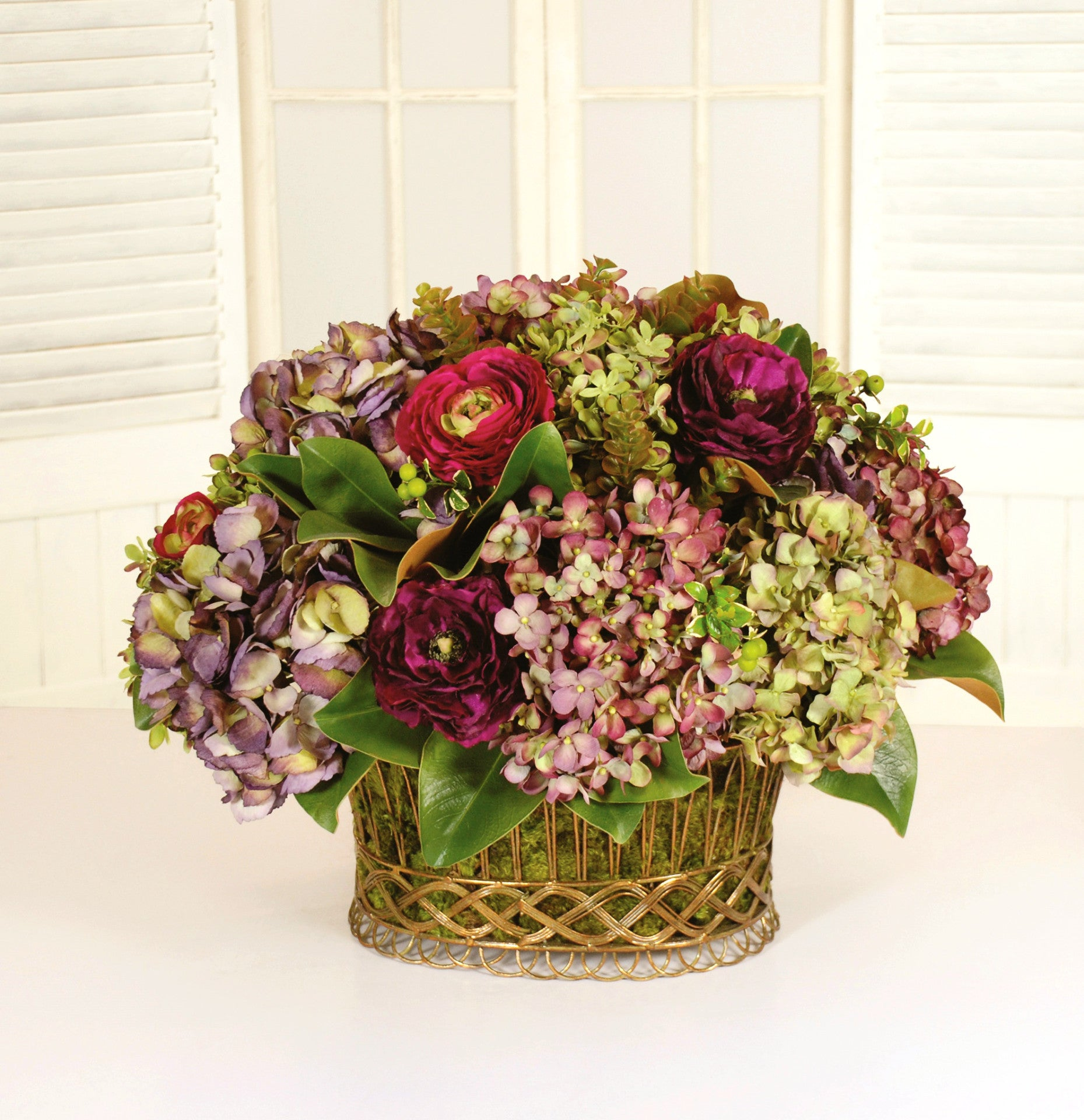 TUSCAN GARDEN FRENCH NESTLE (WHD038-MI) - Winward Home silk flower arrangements
