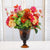 MIX TROPICAL IN AMBER GLASS (WHD042-MI) - Winward Home silk flower arrangements