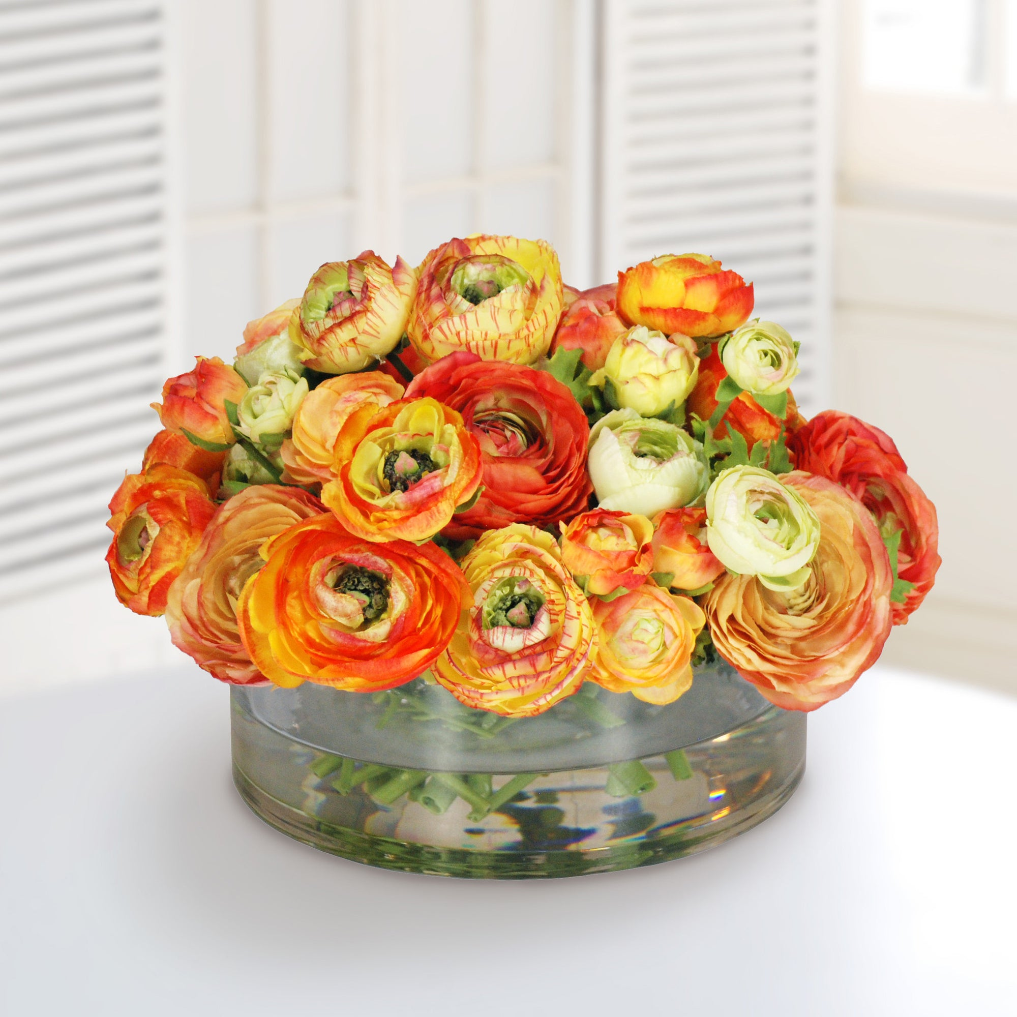 MIX ORANGE RANUNCULUS (WHD071.GO ) - Winward Home faux floral arrangements