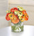 MIX ORANGE RANUNCULUS (WHD072.GO) - Winward Home faux floral arrangements