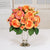 ORANGE ROSES IN SILVER TRUMPET VASE (WHD073-CO) - Winward Home faux floral arrangements
