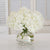 HYDRANGEA IN CACHE POT (WHD080.WH) - Winward Home faux floral arrangements